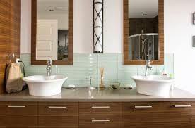 Backsplash for bathroom Pebble The Backsplash Can Brighten Up The Bathroom With Its Color And Shiny Finish And This Is Homedit Bathroom Backsplash Mania Design Ideas To Inspire You