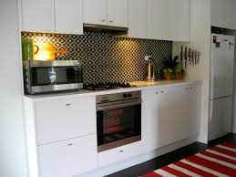 Black And White Kitchen Wall Patterned Tiles Backsplash Ideas