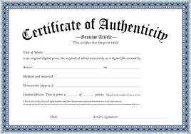 Certificate Of Authenticity Template Fascinating Certificate Of Authenticity Word Template Unofficialdb