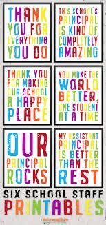 Six Printable School Staff And Principal Gifts Teacher