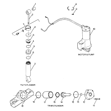 Genuine mercury mercruiser parts parts breakdown tilt cylinder