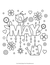 Coloring is a very useful hobby for kids. May Coloring Page Free Printable Pdf From Primarygames