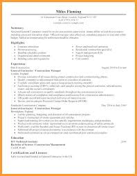 Electrical Contractor Resumes 9 10 General Contractor Resume Samples Aikenexplorer Com
