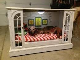 pet bed furniture. delighful furniture upcycled tv console to dog bed by misstints  featured and pet furniture e