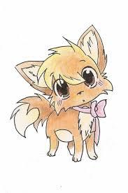 Chibi Cute Fox Drawing
