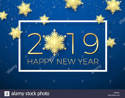 New Year Greeting Card Golden Text Happy New Year 2019 With Gold
