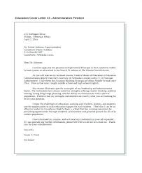 Sample Cover Letter Education Administration Awesome Collection Of