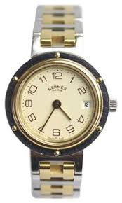 hermès watches on up to 70% off at tradesy herms hermes clipper two tone watch