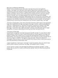 argumentative essay on same sex marriagedescriptionargumentative  why no to same sex marriagedocx