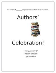 celebration invite authors celebration invitation editable