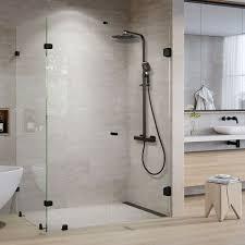 Details Zu Schwarz Thermostat Duschset Duschsystem Regendusche Duscharmatur Handbrause Bad
