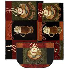 this whimsical rug is perfect gift for the coffee lover in your life a great addition to any kitchen that will provide cushion while you prepare your