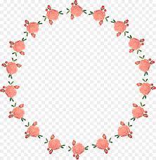 Flower Edge Design Floral Heart Png Download 2313 2359 Free Transparent Web