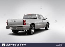 2006 Chevrolet Silverado 1500 SS in Silver - Rear angle view Stock ...