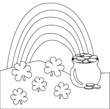 Pot Of Gold Color Sheets Pot Of Gold Coloring Pages