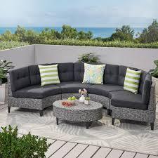 currituck outdoor 5 piece wicker sofa
