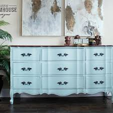 distressed white furniture. French Provincial Dresser \u0026 Nightstand, Blue Dresser, Vintage Painted Furniture, Hand Distressed White Furniture