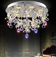 beautiful design purple crystal chandelier ceiling led light fixtures diameter 50cm re bedroom lamp lighting pendant stainless steel pendant light from