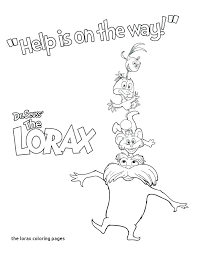 Lorax Coloring Pages Page Characters Printable Ilovezclub