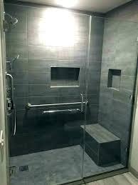 gray shower tile ideas dark bathroom subway grey blue light80 tile