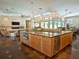exquisite open plan kitchen with island architectures floor living