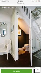 Small Picture Bathroom under stairs Inside House stuff Pinterest Basements