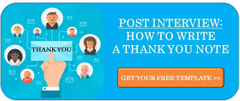 Thank You Note Email Templates After Interview Treeline Inc
