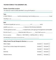 Apartment Rental Lease Rental Basic Lease Simple Apartment Form
