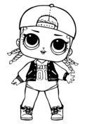 Lol Surprise Doll Rocker Coloring Page Free Printable Coloring Pages