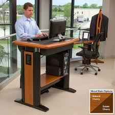 standing computer desk.  Desk Natural Cherry With Drawer And Standing Computer Desk