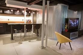 basement ideas for kids area. Basement Ideas For Kids Area Modern With Yellow Renovation Counter Stools