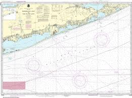 Shinnecock Bay Nautical Chart Noaa Nautical Chart 12353 Shinnecock Light To Fire Island Light