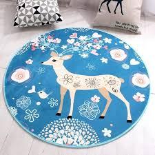 round rug pads cartoon deer round carpet non slip rug pad carpets kids room home decor