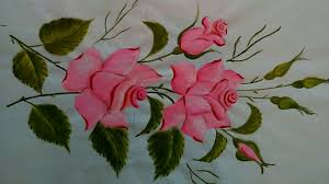 fabric painting rose designs fabric painting tutorial for