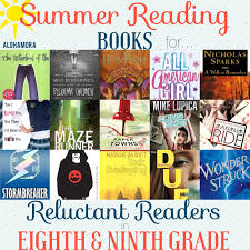 summer reading book lists for reluctant readers in 8th and 9th grade this book list