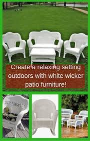 Create a relaxing setting with white wicker patio furniture resize=300 468