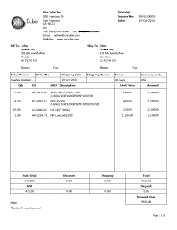 Standard Invoices Template Sample Invoice Template
