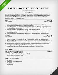 Resume For Sales New Retail Sales Associate Resume Sample Writing Guide RG