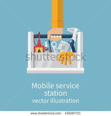 car tool box stock images royalty images vectors mobile service station auto service center concept auto mechanic toolbox and spare parts