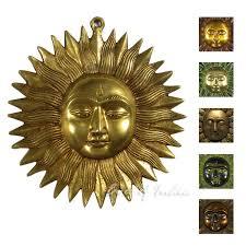 sun sculpture metal brass boho bohemian wall art hanging 6