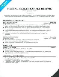 Impressive Resume Sample For Mental Health Nurse In Home Examples Of