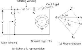 wiring diagram circuit diagram single phase electric motor single phase motor connection with capacitor at Capacitor Start Run Motor Wiring Diagram