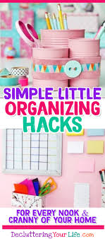 organization ideas for the home simple little organizing diy ideas tips and s for