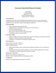 Professional Resume Templates For Insurance Sales Position