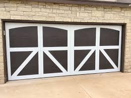 custom wood overlay garage doors