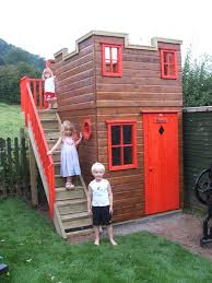 childrens play castle with external staircase