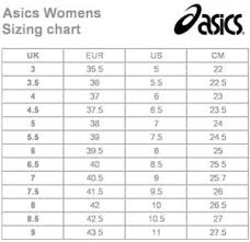 Asics Shoe Size Chart Uk Sizing Chart