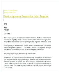 Letter Of Termination Of Employment Template Termination Of