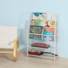 so kids bookcase storage display shelving unit kmb06 w