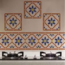 flower border tile paint stencil